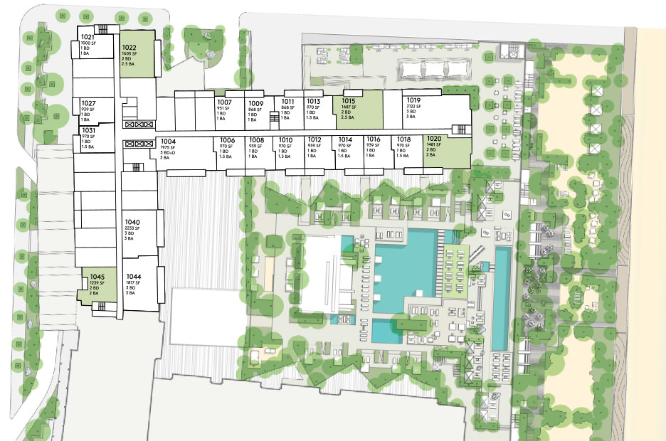 Floorplans for Miami Penthouse
