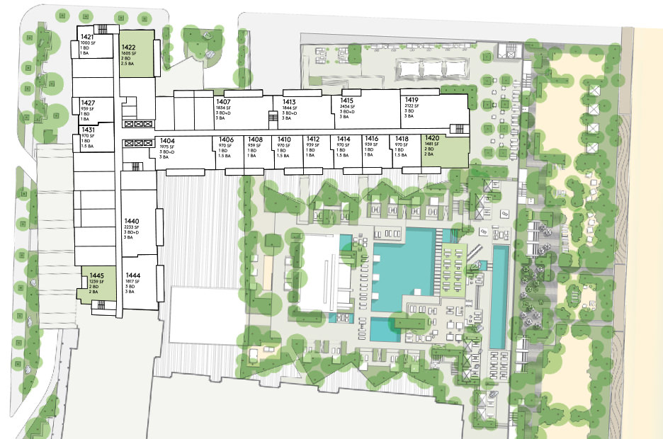 Floorplans for miami penthouse 1 hotel homes south for Plan condo