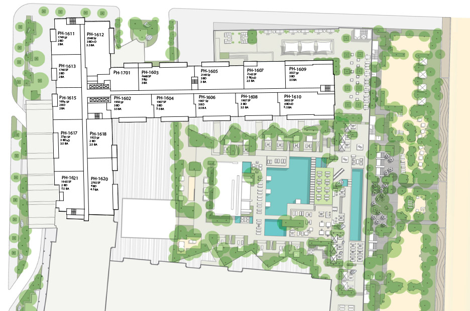 Floorplans For Miami Penthouse 1 Hotel Homes South