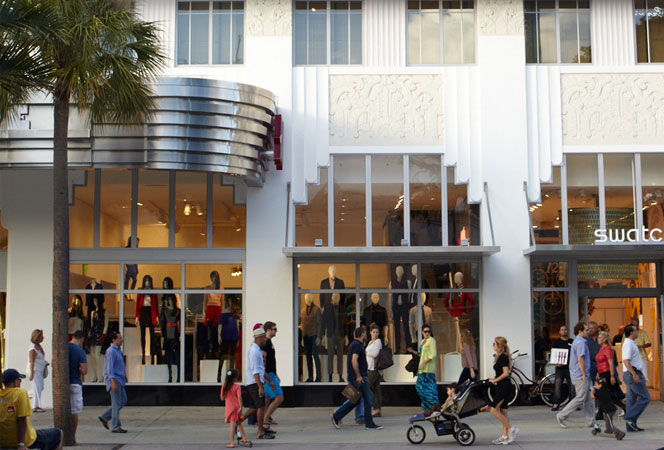 Miami beachfront condos street