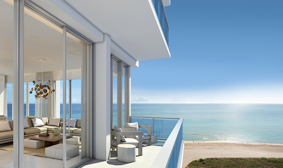 Miami Beach S Balcony Debora Aguiar Design Beachfront Condos 1 Hotel Homes