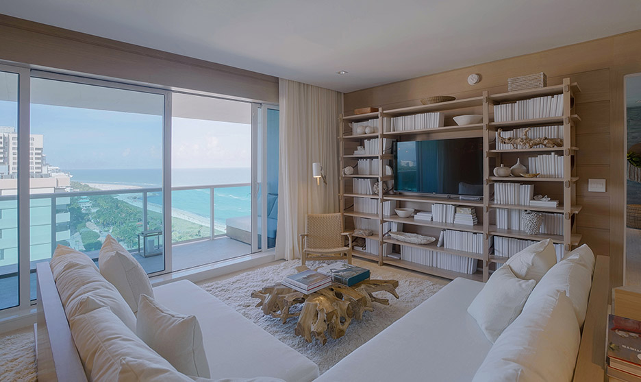 Gallery new miami penthouses for sale 1 hotel homes for Living room suites for sale