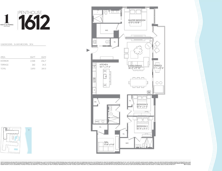 Luxury Condo Floorplans Luxury Condos In Miami 1 Hotel