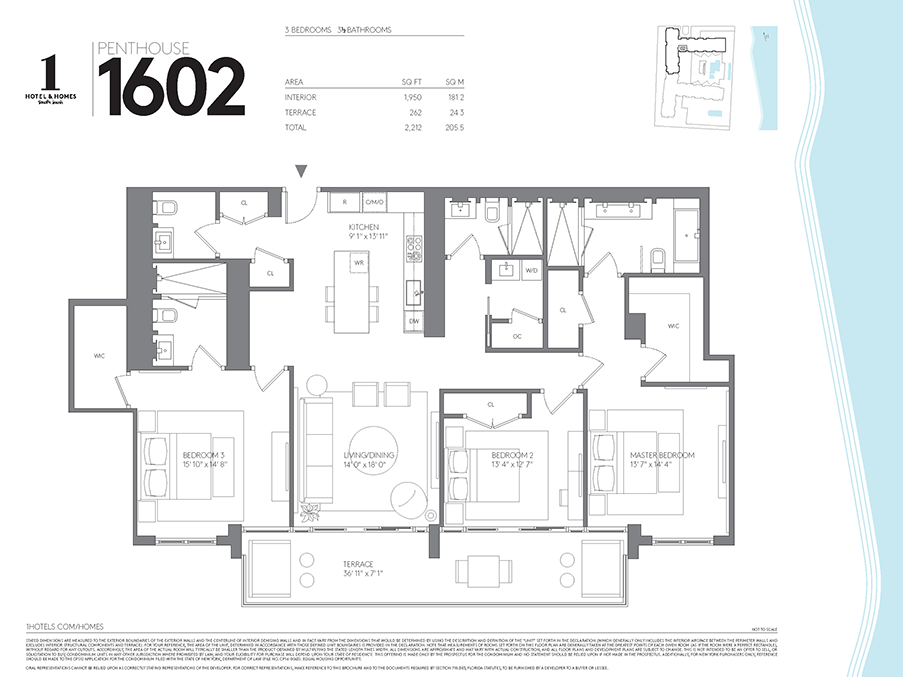 Floorplans for Miami Penthouse | 1 Hotel & Homes South Beach Miami ...